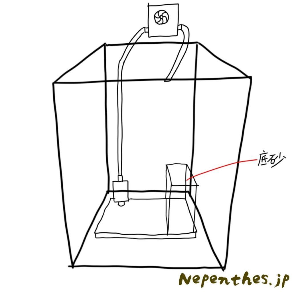ネペンテス×滝のアクアテラリウム設計