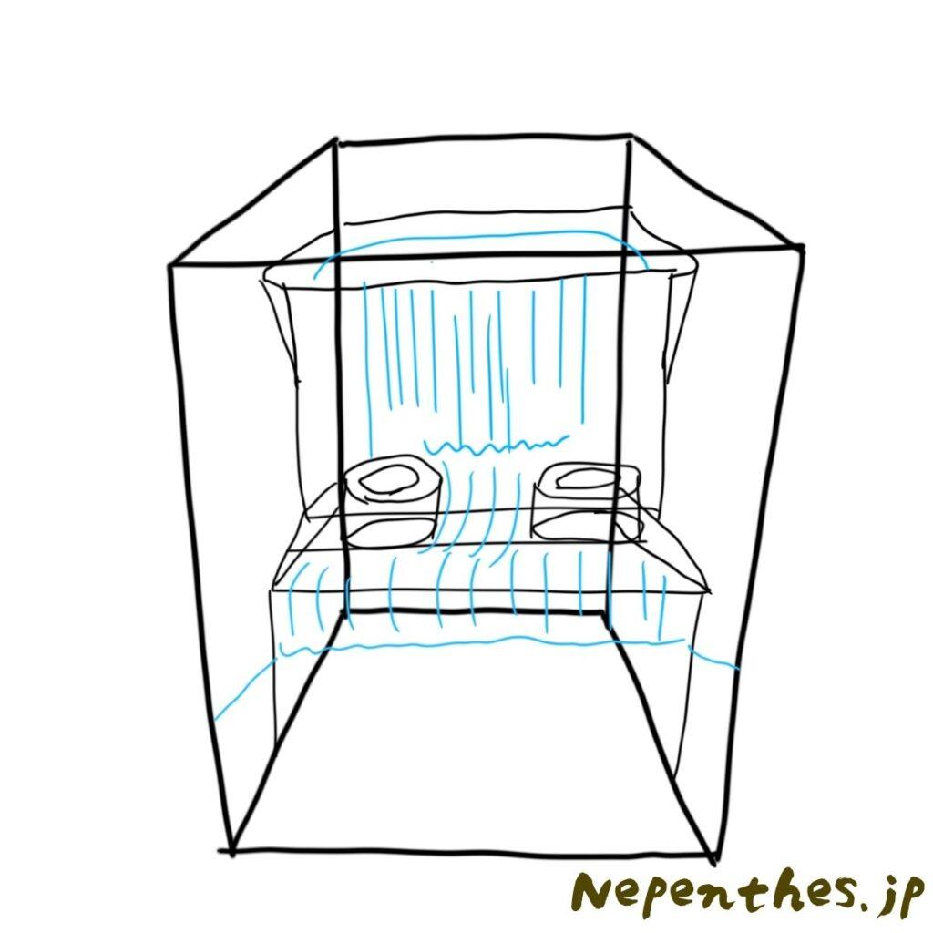 ネペンテス×滝が流れる本格アクアテラリウムを作る
